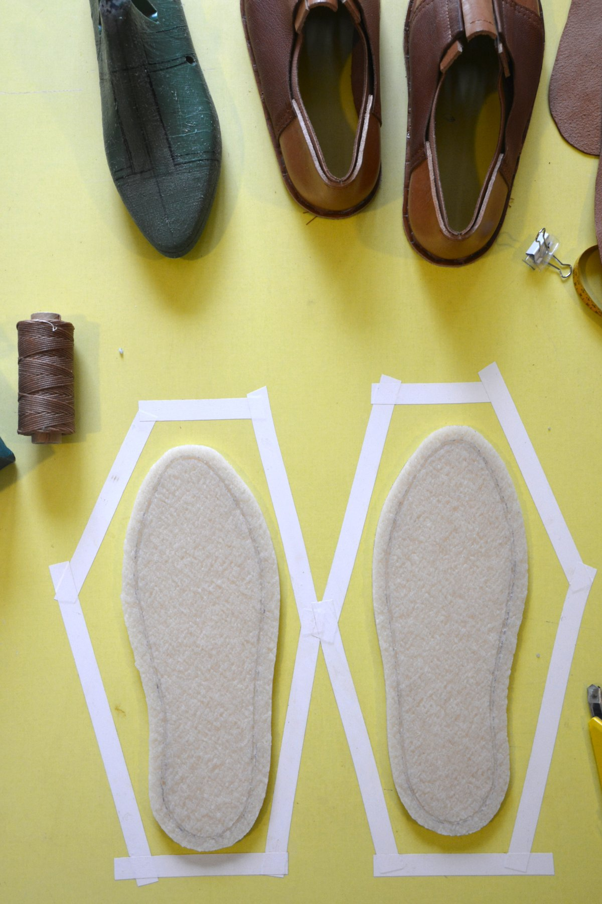 cut channel for outsole stitch